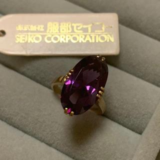 SEIKO - 希少 アメジスト 18金 リング K18 刻印 指輪