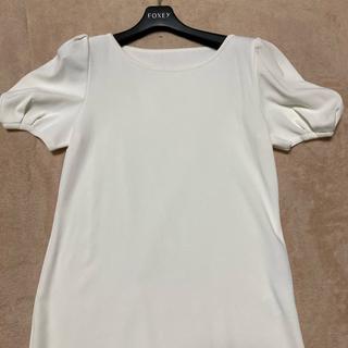 フォクシー(FOXEY)のフォクシーホワイトパフトップス42(カットソー(半袖/袖なし))