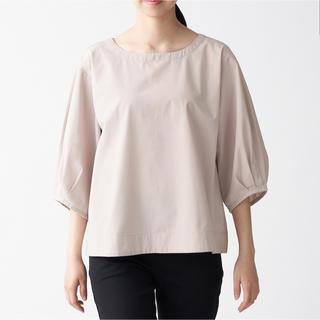 ムジルシリョウヒン(MUJI (無印良品))の無印良品   洗いざらしブロード五分袖ブラウス  婦人 X S- S  2点(シャツ/ブラウス(長袖/七分))