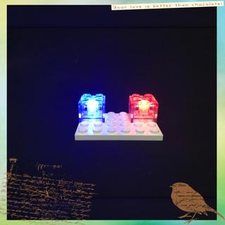 マイクラ レゴ 互換品 LEDライトブロック 赤⇔青 交互点滅 2piece