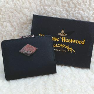 Vivienne Westwood - 新品☆Vivienne Westwood シンプル ロゴプレート がま口折り財布