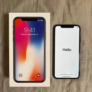 アイフォーン(iPhone)のiPhone X 本体 64GB space gray(スマートフォン本体)