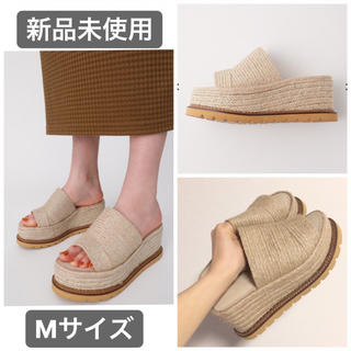 moussy - 新品未使用 MOUSSY JUTE SOLE WEDGE ミュール