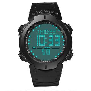HONHX Dot 防水 デジタル スポーツウォッチ ダイバーズ メンズ 腕時計(腕時計(デジタル))
