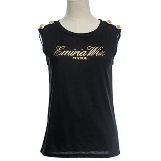 エミリアウィズ(EmiriaWiz)のEmiria Wiz❤︎ロゴノースリーブTシャツ ブラック(Tシャツ(半袖/袖なし))