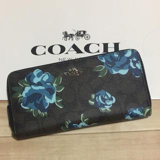 COACH - 新品 [COACH コーチ] 長財布 青い花柄