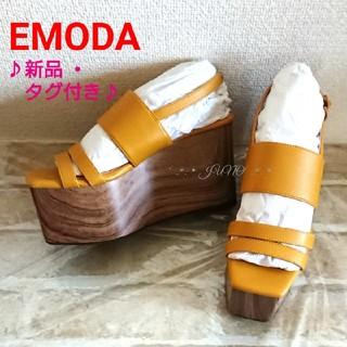 EMODA - イエローサンダル♡EMODA エモダ  新品 タグ付き