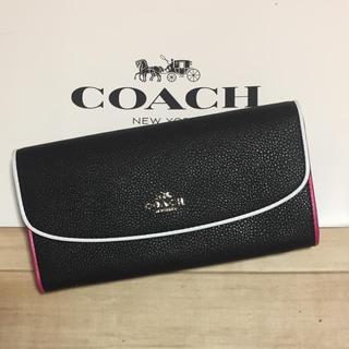 COACH - 新品 [COACH コーチ] 長財布 白とピンクのパイピング
