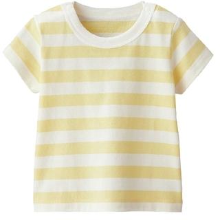 ムジルシリョウヒン(MUJI (無印良品))の【新品未開封】無印良品 半袖Tシャツ 70 ボーダー(Tシャツ)