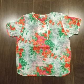 【USED】綿100%花柄シャツ  レディース(シャツ/ブラウス(半袖/袖なし))
