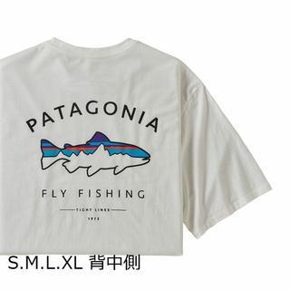 patagonia - パタゴニアT 白 フレームドフィッロイ アウトドア キャンプ フィッシュ