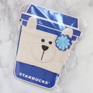 Starbucks Coffee - 【新品】台湾スターバックス ドリンクホルダー ベアリスタ 熊 お花 花 海外限定