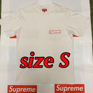 シュプリーム(Supreme)のSupreme Mesh Stripe Pocket Tee box logo(Tシャツ/カットソー(半袖/袖なし))