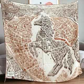 Hermes - エルメス La Cite Cavaliere shawl 140ショール