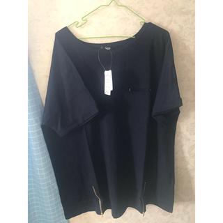 ニッセン(ニッセン)のレディース 大きいサイズ カットソー トップス Tシャツ ネイビー 5L(Tシャツ(半袖/袖なし))