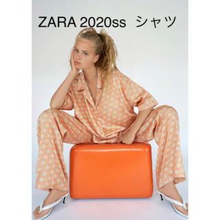 ザラ(ZARA)の新品 ZARA アロハシャツ パームツリー パジャマ風シャツ(シャツ/ブラウス(半袖/袖なし))