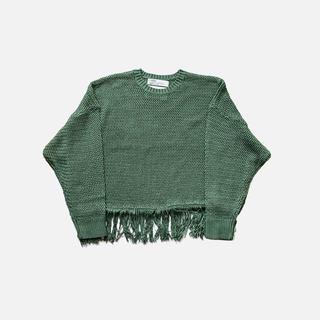 SUNSEA - dairiku 20ss pullover fringe net knit