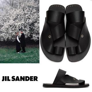 ジルサンダー(Jil Sander)のJIL SANDER 20ss レザーサンダル ジルサンダー サンダル(サンダル)