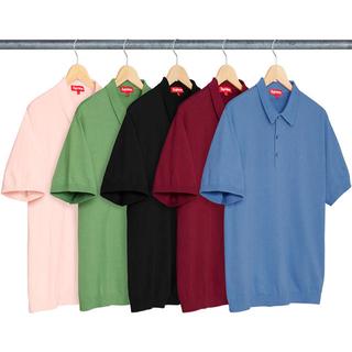 Supreme - 18ss 美品 ワイン M supreme knit polo shirt