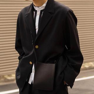 SUNSEA -  URU TOKYO 2 BUTTON JACKET -BLACK-