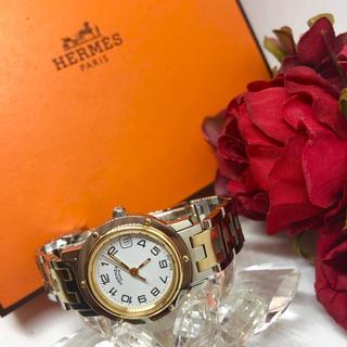 エルメス(Hermes)の良品!稼働品!電池交換済み! エルメス クリッパー CL4.220 腕時計 箱(腕時計)