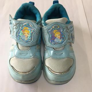 Disney - ☆プリンセス シンデレラ スニーカー 運動靴 女の子 軽量18cm