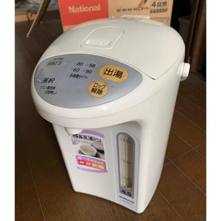 パナソニック(Panasonic)のNational 沸騰ジャーポット NC-EH40-W(電気ポット)