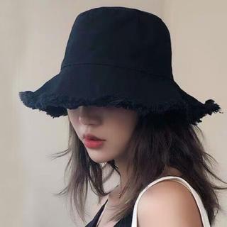 【新品・未使用】バケットハット 帽子 フリンジバケット シンプル