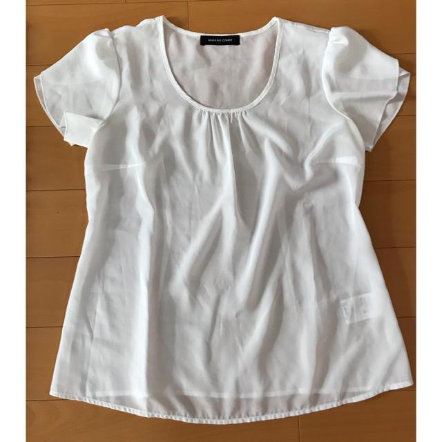 QUEENS COURT(クイーンズコート)のクイーンズコート カットソー 白 レディースのトップス(カットソー(半袖/袖なし))の商品写真