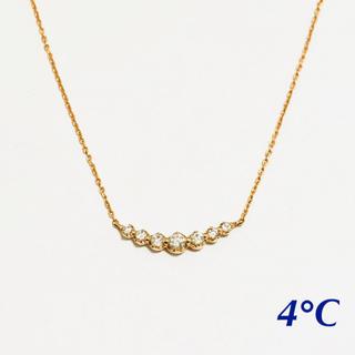 4℃ - 【4°C】ピンクゴールド ネックレス 18金
