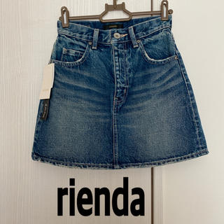 rienda - rienda  新品 ダメージデニム ミニスカート
