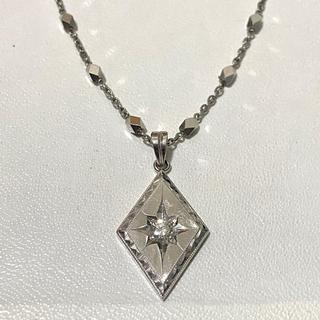 【Pt900刻印】0.19ct ダイヤモンド プラチナ ネックレス 19.6g
