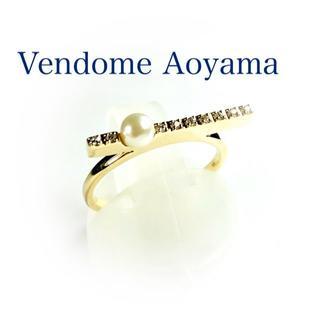 Vendome Aoyama - ヴァンドームアオヤマ ダイヤ パール K10YG リング エタニティ