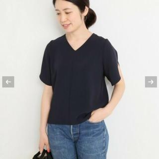 イエナ(IENA)のIENA 美品 デザインブラウス(シャツ/ブラウス(半袖/袖なし))