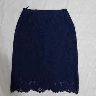 エヌナチュラルビューティーベーシック(N.Natural beauty basic)のレースタイトスカート(ひざ丈スカート)