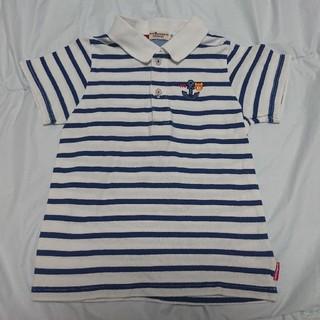 ホットビスケッツ(HOT BISCUITS)のミキハウス  ホットビスケッツ さわやかマリンボーダーポロシャツ  110(Tシャツ/カットソー)