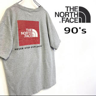 THE NORTH FACE - 値下可 90's THE NORTH FACE スクエアロゴ Tシャツ