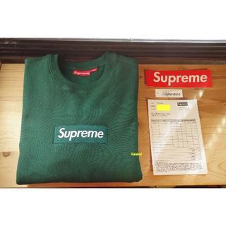 Supreme - 新品同様 Supreme 18AW Box Logo Crewneck 緑 M