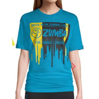 ズンバ(Zumba)の8月11日発売の最新作 新品 未使用 未開封 ブルー ZUMBA ズンバ フリー(Tシャツ(半袖/袖なし))