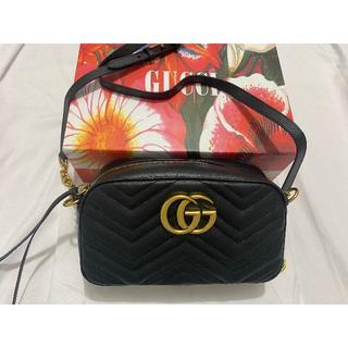 Gucci - グッチ GGマーモント キルティングスモールショルダーバッグ