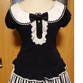 アンジェリックプリティー(Angelic Pretty)の丸襟ペプラムカットソー(カットソー(半袖/袖なし))