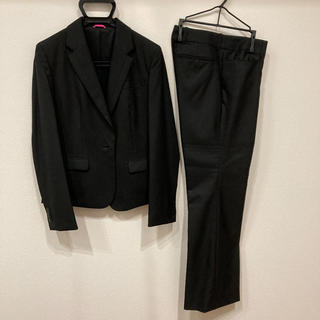 ブラックパンツスーツ ジャケット9号 パンツ11号