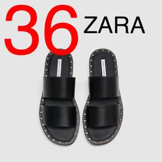 ZARA - ZARA  ザラ スタッズ付き フラット サンダル