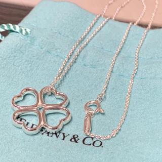 Tiffany & Co. - 美品 ティファニー ハート クローバー ネックレス シルバー925