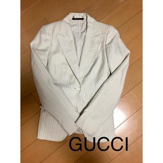 グッチ(Gucci)のグッチ レディース 38(M相当)  テーラードジャケット ストライプ(テーラードジャケット)