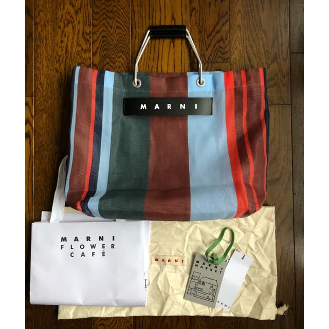Marni(マルニ)のMARNI  ストライプバッグ ラッカーレッド レディースのバッグ(トートバッグ)の商品写真