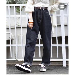 RETRO GIRL - 【新品】レトロガール ハイウエストストレートパンツ(ブラック・L)
