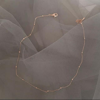 イエナ(IENA)のpink gold necklace 〻(ネックレス)