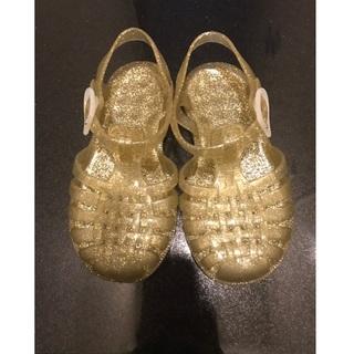 こどもビームス - meduse ラバーサンダル(ゴールド/14-15cm)