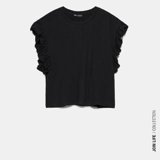 ZARA - 【ZARA】フリルTシャツ